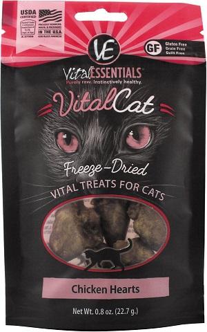 Vital Essentials Chicken Hearts Freeze-Dried Cat Treats