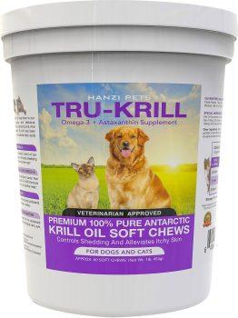 Hanzi Pets Tru-Krill Antarctic Krill Oil Omega-3