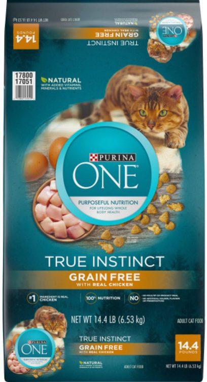 Purina ONE True Instinct Natural Real Chicken Plus Vitamins & Minerals Grain-Free Dry Cat Food